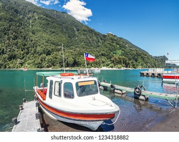 Boats at Todos los Santos Lake - Los Lagos Region, Chile