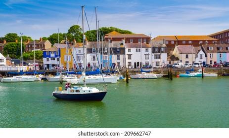 Boats in Weymouth Harbour Dorset England UK Europe