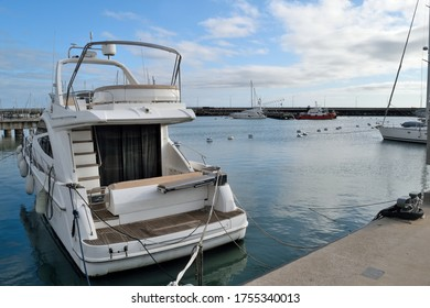 Boats and yacths moored in the port