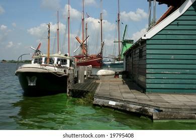 Boats at the Zaanse Schans