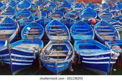Boats.Essueirra city ( Unesco heritage).Morocco