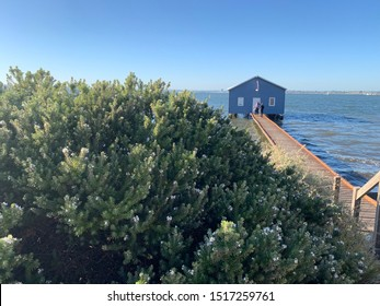 """Crawley Edge"" boatshed, the prominent landmark on the Swan River, Perth WA."
