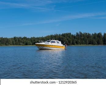 a boattrip on a swedish lake