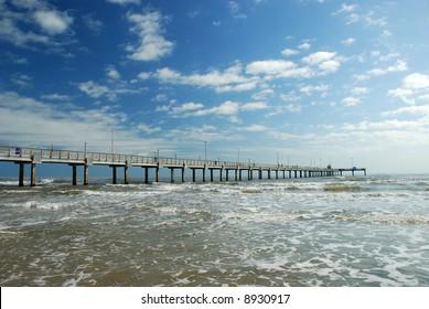 Bob Hall Pier on Padre Island in Corpus Christi, Texas
