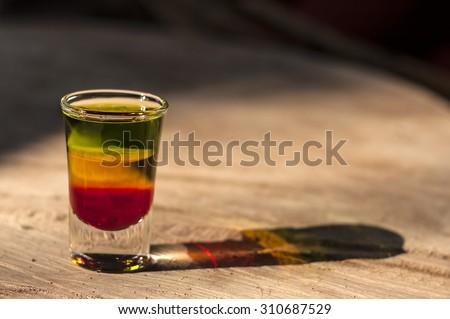 Bob Marley layered shot