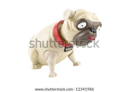 c9a00a5e14c Bobblehead Plastic Toy Pug Dog Isolated Stock Photo (Edit Now ...