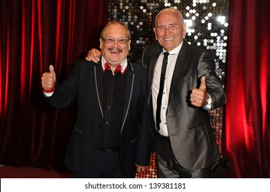 Bobby Ball and Tommy Cannon arriving for the British Soap Awards 2013, at Media City, Manchester. 18/05/2013