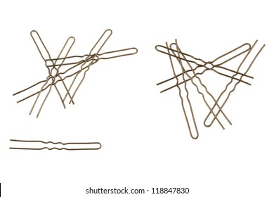 Bobby pin isolated on white