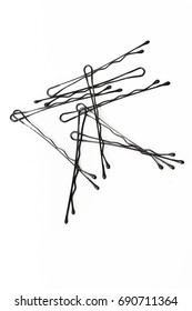 Bobby pins / hairpins on the white background