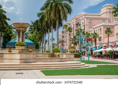BOCA RATON, FL USA- Mizner Park outdoor mall as seen on August 7, 2019.