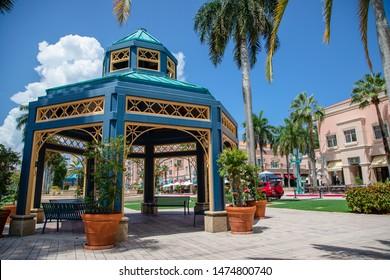 BOCA RATON, FL USA- Mizner Park as seen on August 7, 2019.