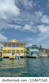 Bocas del Toro, Panama - October 25 2016: typical houses on the island of Bocas del Toro in Panama,Central America