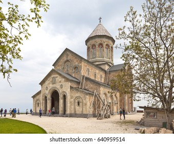 BODBE, GEORGIA - MAY 2, 2017: Photo of The Temple of St. Nina in the Bodbe Monastery.