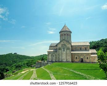 Bodbe Monastery, Georgia: Saint Nino`s church in Monastery of St. Nino at Bodbe. Cathedral on the tomb of St. Nino. Sighnaghi. Kakheti region. Georgia
