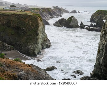 Bodega Bay Area Seascape on a winter's day