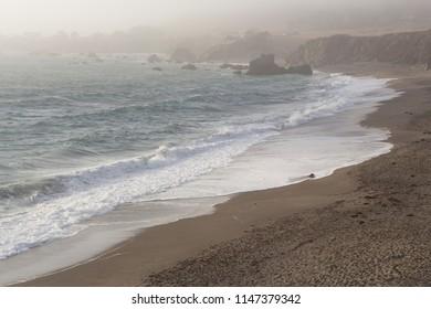 Bodega bay California beach during sunset