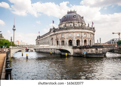 Bodemuseum and Fernsehturm in the center of Berlin