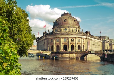 Bode-Museum and Museumsinsel in Berlin Mitte, Germany