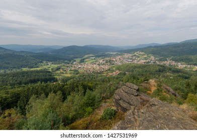 Bodenmais is a municipality in the district of Regen in Bavaria in Germany, viewed from the Silverberg.