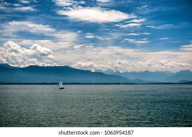 Bodensee lake in Bavaria, Germany