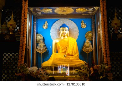 Bodh Gaya Buddha Idol. Bodh Gaya in Bihar, India is the place where Buddha attained enlightenment
