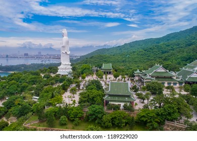 Avalokiteśvara Bodhisattva at Linh Ung Pagoda, this is a place famous tourism on Da Nang City, Vietnam