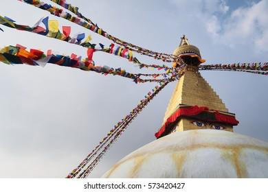 Bodhnath, buddha's eye temple in kathmandu