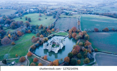 Bodiam Castle from the Sky, is a 14th-century moated castle near Robertsbridge in East Sussex, England. It was built in 1385.