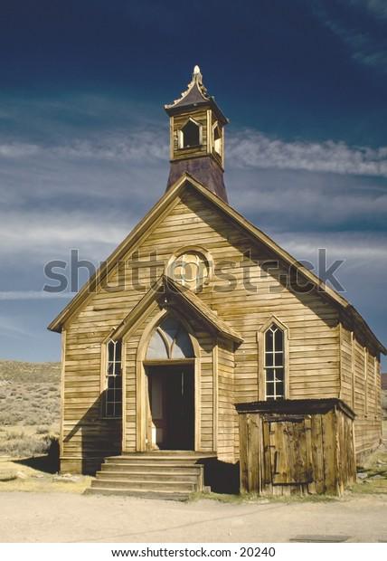 Bodie ghost town church
