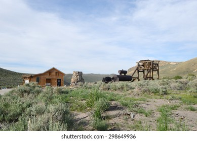 Bodie is a historic state park of a ghost town from a gold rush era in Sierra Nevada