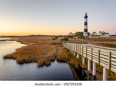 Bodie Island Lighthouse is located at the northern end of Cape Hatteras National Seashore, North Carolina.
