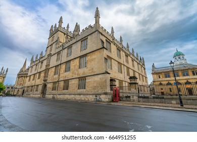 Bodleian Library at Catte street in Oxford, UK