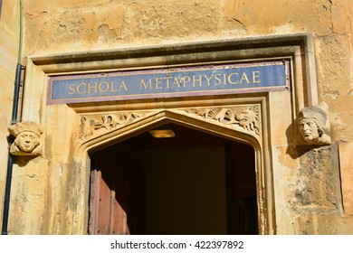 Bodleian Library school of metaphysics entrance