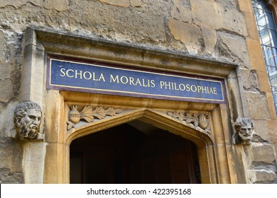 Bodleian Library school of philosophy entrance