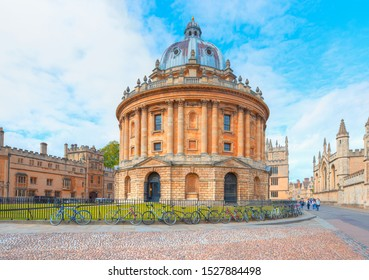 Bodleian Library (Science  Library) with Radcliffe square - Oxford, United Kingdom