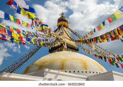 Bodnath Stupa in Nepal