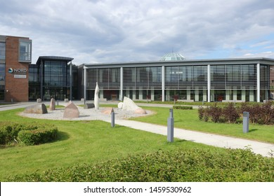 BODO, NORDLAND COUNTY / NORWAY - APRIL 25 2019: Nord University is a state university in Norway. Established in 2016, it is located in Bodø. Nord University main campus