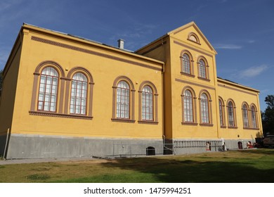 BODO, NORDLAND COUNTY / NORWAY - AUGUST 10 2019:  Bodo (Bodø) city museum, dating from 1903, is among the oldest surviving buildings in the centre of Bodø