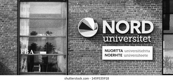 BODO, NORDLAND COUNTY / NORWAY - JULY 23 2019: Nord University is a state university in Norway. Established in 2016, it is located in Bodø. Nord University main campus