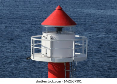 BODO, NORDLAND COUNTY / NORWAY - JULY 27 2019: Summer view on the Nyholmen lighthouse, Norway