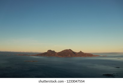 BODO, NORDLAND COUNTY / NORWAY - NOVEMBER 18 2018: View from the Keiservarden viewpoint in Norway