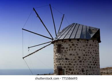 Windmühle in Bodrum, Türkei