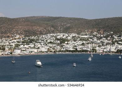 Bodrum Town in Aegean Coast of Mugla City, Turkey