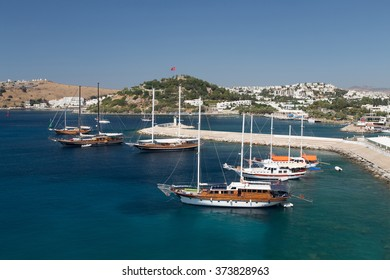 Bodrum Town in Mugla City, Aegean Turkey