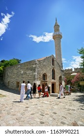 Bodrum, Turkey - May 19 2010: Kizilhisarli Mustafa Pasa Mosque in Bodrum Castle, Bodrum, Mugla