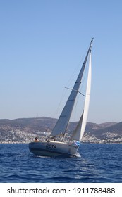 Bodrum,Turkey. 19 August 2016: The sailing races have been performed by the organization of Turkey Sailling Federation in Bodrum for the memory of Mustafa Koc.