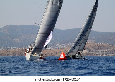Bodrum,Turkey. 20 August 2016: The sailing races have been performed by the organization of Turkey Sailling Federation in Bodrum for the memory of Mustafa Koc.