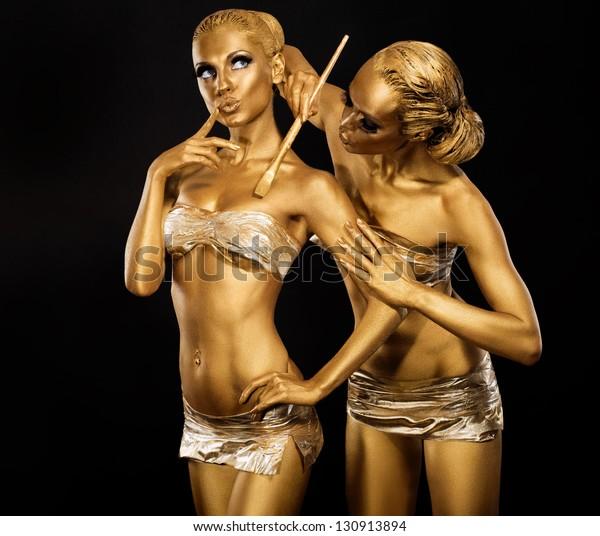 Body Art Woman Painting Body Paint Stock Photo Edit Now 130913894