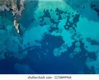 Body of blue water in the Mediterranean (Albania)