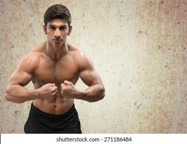 Body Building, Weight Training, Men.